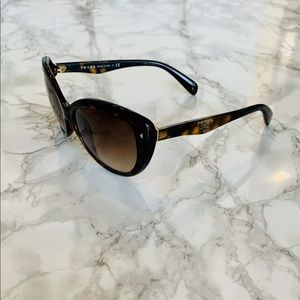 Prada Cat eye tortoise  sunglasses #SPR21N w/case
